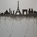 Parisian Skyline Silhouette by Kushagra Sharma