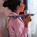 Parisian Waitress by Lesley Spanos