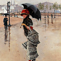 Parisienne On A Rainy Day by Jean Beraud