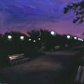 Park At Dusk by Sarah Yuster