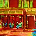 Park Avenue Montreal Cafe Scene by Carole Spandau