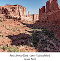 Park Avenue Trail, Arches National Park, Moab, Utah by A Gurmankin