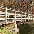 Park Bridge Autumn 3 by John Brueske