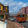 Park City Trolley Car by La Rae  Roberts