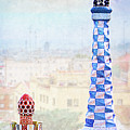 Park Guell Candy House Tower - Gaudi by Weston Westmoreland