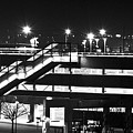 Parking Garage At Night by Angus Hooper Iii