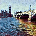 Parliament Across The Thames by Rachael Varley
