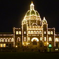 Parliament Building At Night - Victoria British Columbia by Charles Robinson