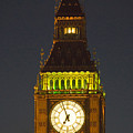 Parliament Tower At Night by Charles  Ridgway
