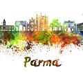 Parma Skyline In Watercolor by Pablo Romero