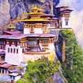 Paro Taktsang Monastery Bhutan by Dominic Piperata