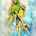 Parrots by Larry White