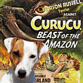 Parson Russell Terrier Art Canvas Print - Curucu  Movie Poster by Sandra Sij