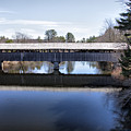 Parsonfield Porter Covered Bridge by Betty Pauwels
