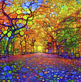 Park In Autumn by Lilia D