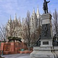 Part Of Temple Square by Buck Buchanan