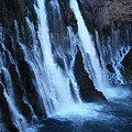 Partial Side View Of Burney Falls Ca by Teri Schuster