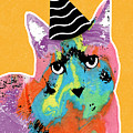 Party Cat- Art By Linda Woods by Linda Woods