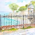 Paseo De La Princesa Puerto Rico by Carlin Blahnik CarlinArtWatercolor