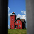 Passageway To The Two Harbors Lighthouse by Deborah Klubertanz
