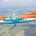 Passenger Plane Fokker 27 During Preparation For Planting  by Alex Arkhipau