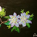 Passion Flowers by Diana Riedling