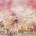 Pastel Carnival Swing Ride For Nursery Room by Joann Vitali