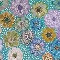Pastel Floral Garden by Michelle Ludington