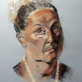 Pastel Portrait Of A Lovely Older Woman by Greta Corens