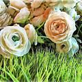 Pastel Roses by Joan  Minchak