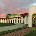 Pastel Skies Above The Ferguson Center For The Arts by Ola Allen