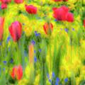 Pastel Summer Flowers  by David Pyatt