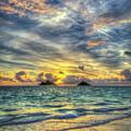 Lanikai Beach Sunrise Oahu Hawaii Seascape Art by Reid Callaway