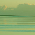 Pastel Sunset Sea Green by Tony Brown