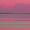 Pastel Sunset Sea Pink by Tony Brown