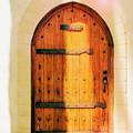 Pastel Wooden Door by Juanita Howell