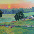 Pastoral Sunset by Keith Burgess