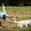 Pasture Ballet Human Interest Art By Kaylyn Franks   by Kaylyn Franks