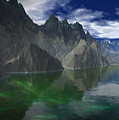 Patagonia Mountain Reflection by Heinz G Mielke