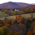 Patch Worked Mountains In Vermont by Nancy Griswold