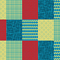 Patchwork Patterns - Muted Primary by Shawna Rowe