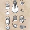 patent art Edison 1890 Lamp base by Justyna JBJart