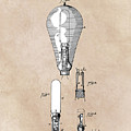 patent art Edison 1892 Incandescent electric lamp by Justyna JBJart