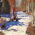 Path Behind Mowat Lodge by Tom Thomson