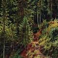 path in the woods 55h34 Ivan Ivanovich Shishkin by Eloisa Mannion