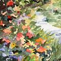 Path Monets Garden Watercolor Paintings Of France by Beverly Brown