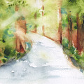 Path To Light Watercolor by Frank Bright