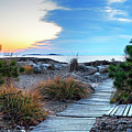 Path To The Beach Preston Beach Marblehead Massachusetts Sunrise by Toby McGuire