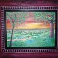 Path To The Pedernales River With Painted Frame by Susan Michutka