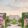 Pathway Leading To A Mansion Through Beautiful Gardens by Lee Avison